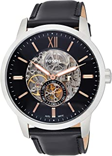 Fossil Mens Quartz Watch, Analog Display and Leather Strap ME3153