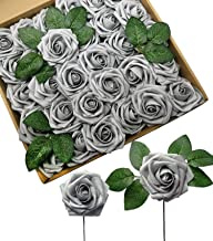 Best silver artificial roses Reviews