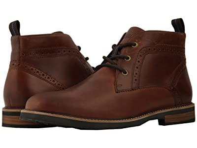 Nunn Bush Ozark Plain Toe Chukka Boot with KORE Walking Comfort Technology (Rust) Men