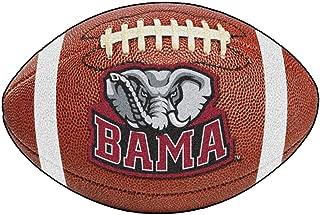 FANMATS NCAA University of Alabama Crimson Tide Nylon Face Football Rug