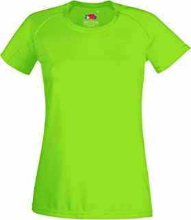 Fruit Of The Loom Ladies/Womens Performance Sportswear T-Shirt (UK Size: XS) (Lime)