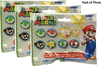 Super Mario Brothers Collector Rings Blind Bag Pack of Three