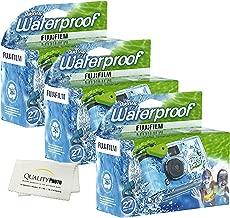 Fujifilm Quick Snap Waterproof 27 exposures 35mm Camera 800 Film, 1 Pack + Quality Photo Microfiber Cloth (3 Pack)
