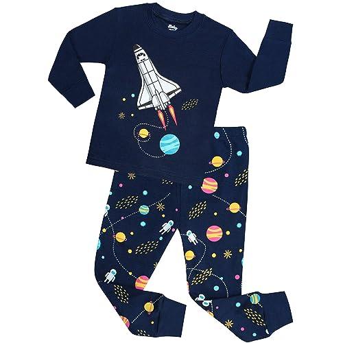 Boys Pyjamas Short Sleeve Nightwear Shorty Pjs Childrens Planet Design 2-7 Years