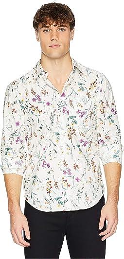Regular Shirt Flower Painting