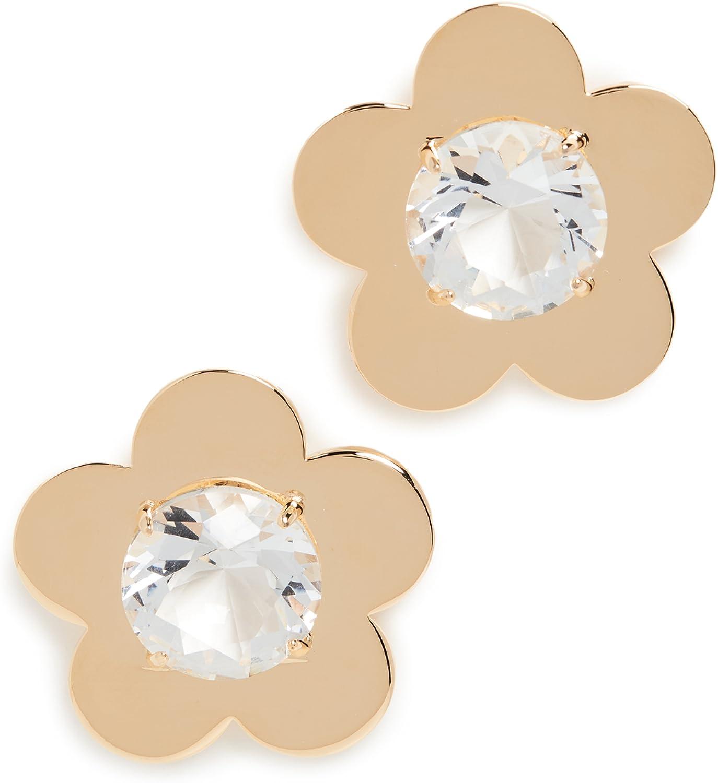 Lele Sadoughi Women's Petal Framed Button Earrings