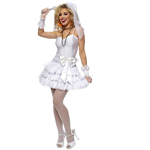 bbf7c29b04 CLUBCORSETS Ladies Madonna Virgin Bride 80s Fancy Dress Costume