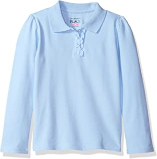 The Children's Place Girls' Uniform Long Sleeve Polo