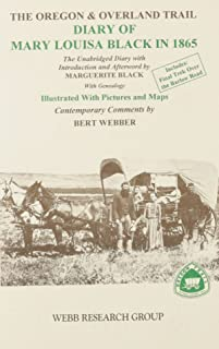 Oregon and Overland Trail Diary of Mary Louisa Black in 1865