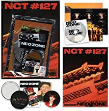 NCT 127 2nd Album - NCT # 127 NEO ZONE [ T ver. ] CD + Photobook + Folding Poster + Sticker Pack + Sticker + Lenticular Card + Photocard + Circle Card + FREE GIFT / K-POP Sealed