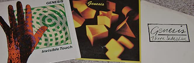 GENESIS: Self-titled, Invisible Touch & Three Sides Live (4 ALBUM LOT)