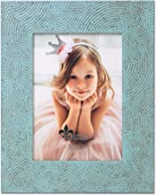 Lawrence Frames Marka Embossed Picture Frame, 5x7, Turquoise