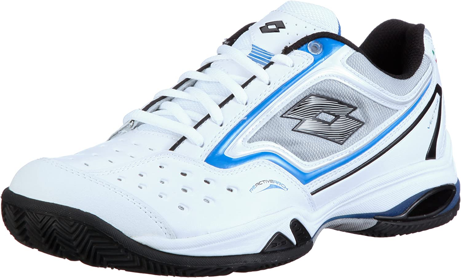 Lotto Vector III Mens Tennis shoes, white 05   bluee
