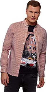 oodji Ultra Men's Extra Slim-Fit Fine Check Shirt