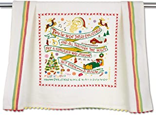 Catstudio Night Before Christmas Dish & Hand Towel | Beautiful Award Winning Home Decor Artwork | Great For Kitchen & Bathroom