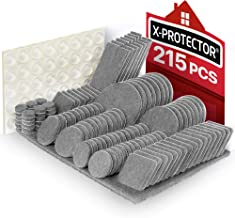 Meubilair Pads 215 stuks X-PROTECTOR Vilt Meubilair Pads - Meubilair Vilt Pad -Premium Meubilair Vilt Pads - Stoel Been vl...