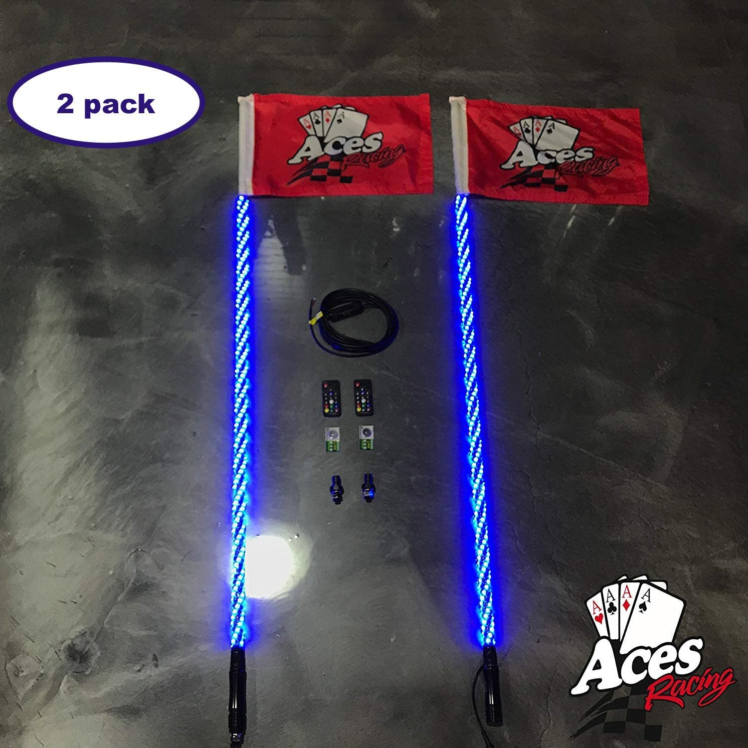 Deluxe Lighted Whips with Quick Connect and New products world's highest quality popular 1 5 F Bombing free shipping Warranty Year