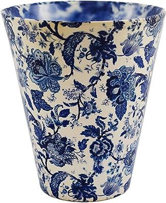 "Ivyline Monza Vintage Blue Indoor Planter Pot Orchid Pot Tall Design 6.75"" High"