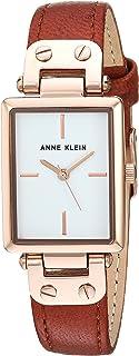 Anne Klein Women's Gold-Tone Leather Strap Watch