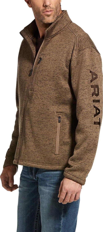 ARIAT Men's Caldwell Logo Full Zip, Fossil