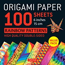 """Origami Paper 100 Sheets Rainbow Patterns 6"""" (15 cm): Tuttle Origami Paper: High-Quality Double-Sided Origami Sheets Print..."""