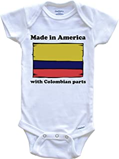 Made in America with Colombian Parts Funny Colombia Flag Baby Onesie