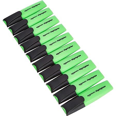 Amazon Basics Lot de 10 surligneurs verts