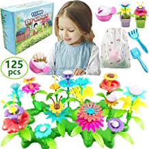 Gifts Toys for 3-6 Year Old Girls - DIY Flower Garden Building Kits Educational Outdoor Activity for Preschool Toddlers Playset STEM Toy Crafts Birthday Gift for Kids Girls Age 3 4 5 6 Year Old