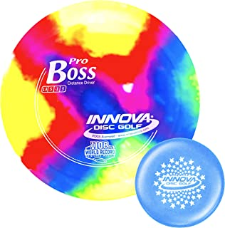 Innova I-Dye Pro Boss Disc Golf Distance Driver with Stars Stamp Innova Mini (Colors and Designs Will Vary)