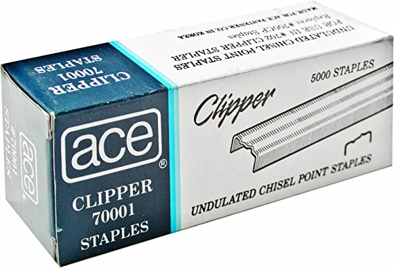 Undulated Ace 70001 Staples 2 BOXES For 07020 Clipper Plier 5000//BX