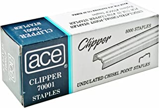 ace clipper 70001 undulated staples