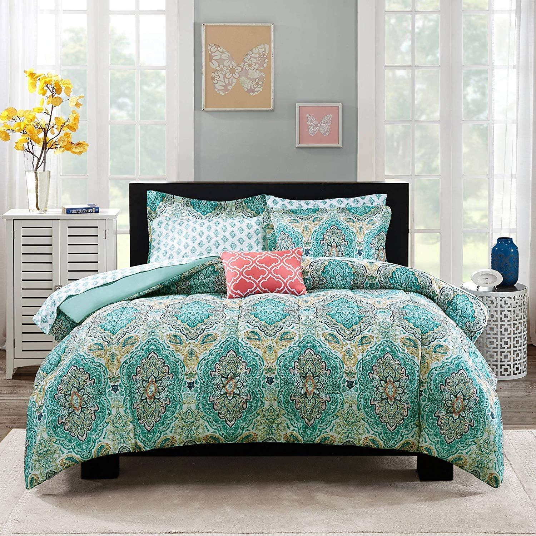 Mainstays Monique Paisley 代引き不可 Coordinated Bedding Set Bag 超特価SALE開催 a Bed in