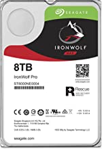 Seagate IronWolf Pro 8 TB NAS RAID Internal Hard Drive - 7,200 RPM SATA 6 Gb/s 3.5-inch (ST8000NE0004)