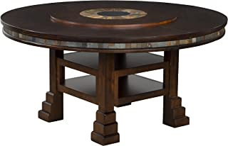 Sunny Designs Santa Fe Round Table with Lazy Susan, 60-Inch