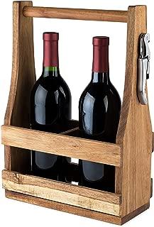 Best wine bottle caddy wood Reviews