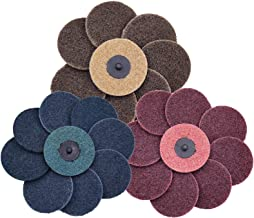 COSPOF 2 Inch Surface Conditioning Disc Mixed Pack-30 Pcs,Quick Change Sanding Disc,Work with Air and Electric Sander, Features Better Surface Quality and Heat Dissipation.