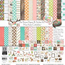 Paper & Sticker Kit - Be Brave - 17 Double-Sided 12x12 Papers with 33 Designs & 1 8X12 Sticker Sheet - Scrapbooking Card Making Crafting - by Miss Kate Cuttables