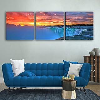 WG Wasserfall dekorative Malerei Set, rahmenlose Gemälde, Wohnzimmer Gang dekorative Malerei, 60  60  3 B07KN5W8L3  Starke Hitze- und HitzeBesteändigkeit