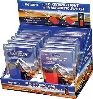 Motolite MT30105-12 3 LED Magnet Switch Keyring Torch