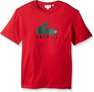 Lacoste Men's Graphic Jersey Tee with Printed Croc Logo