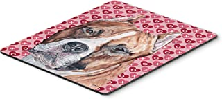Caroline's Treasures SC9704MP Staffordshire Bull Terrier Staffie Hearts and Love Mouse Pad, Hot Pad or Trivet, Large, Mult...