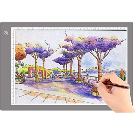 A3 LED Light Pad HOHOTIME Diamond Painting LED Light Box Tracer with Battery Case Carry Bag USB Cable Adjustable Light for Artists Drawing Sketching Animation Tracing and Diamond Painting