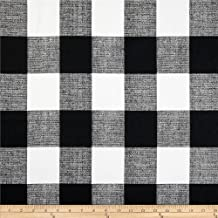 Best black and white buffalo check upholstery fabric Reviews