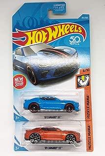 Hot Wheels 2018 Muscle Mania 8/10 - '18 Camaro SS (Orange & Blue) Set of 2!