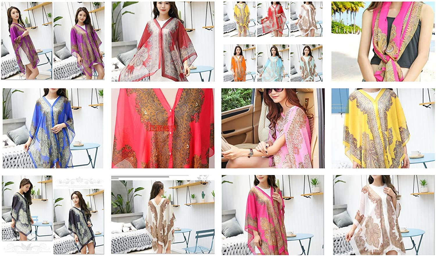 15 Boho Kaftan Tunic Dress Wing Tops Batwing Scarf Beach Cover Up