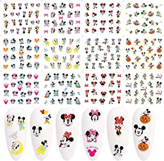 Mickey Mouse Nail Art Stickers,Nail Supplies Nail Art Water Decals Transfer Foil Minnie Mouse Nail Decals Cute Cartoon Nai...