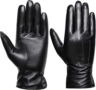 over the elbow black leather gloves