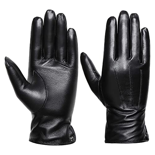 9566f1e9f40b1 Womens Winter Genuine Leather Gloves - Acdyion New Design Touchscreen  Outdoor Windproof Driving Genuine Leather Gloves