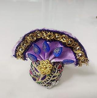finaldeals Jai Shree Krishna Pagdi Multicolour Laddu Gopal Pagdi Small Size Gopal Ji Turban 4 Piece Set