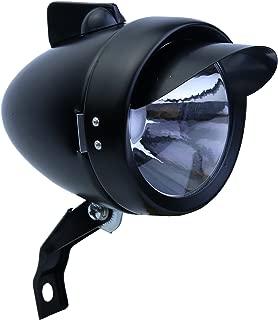 Letgoing England Vintage Bike Sliver and Black Bullet LED Headlight